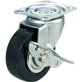 75 mm Rubber Caster Wheels for Box Push Carts