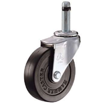 420 K Insert Type Swivel Casters, Rubber Wheels