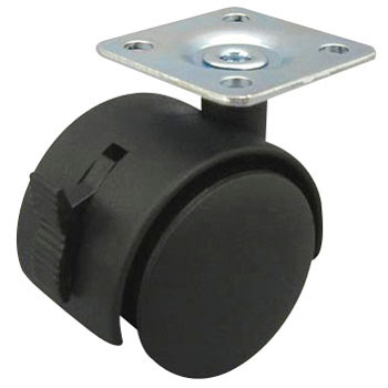 Pair Wheeled Caster TG, with Stopper