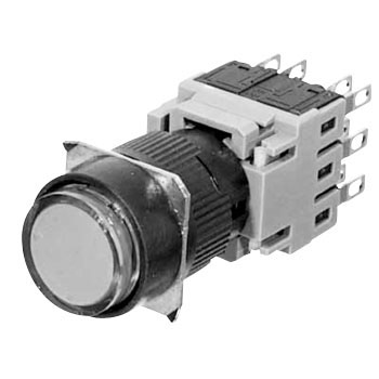 Illuminated push button switch AH165 series (projected)