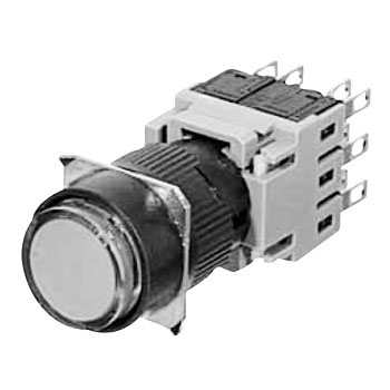 Illuminated push button switch AH164 series (projected)