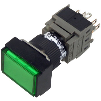 Illuminated Push-Button Switch Ah164 Series, Rectangular Shape