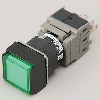 Illuminated push button switch AH165 series (flat corner)