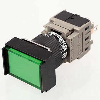 Illuminated Push-Button Switch Ah165 Series, Rectangular Shape