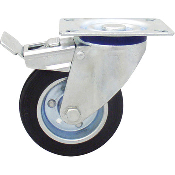Rubber Swivel Caster with Stopper