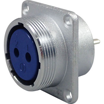 NJC Series JIS Standard Medium Metal Connector Panel Mounting Receptacle