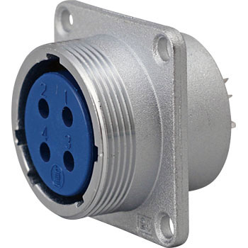 NJC Series Jis Standard Medium Size Metal Connector Receptacle With Panel