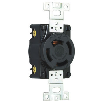 Flush Plug Receptacle Hook Type 20A