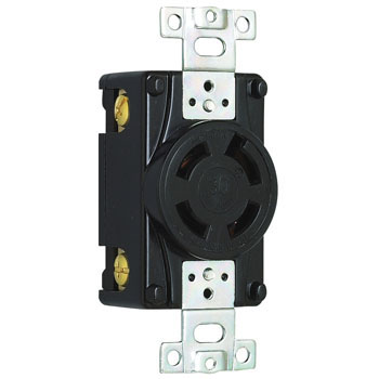 Flush Plug Receptacle Hook Type 30A