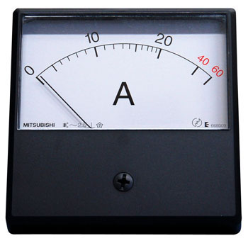 Mechanical Indicating Instrument Alternating Current Amp Meter Square-Shaped Meter