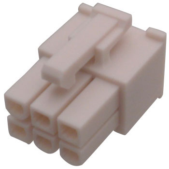Mini-Fit Jr., TM) Receptacle Housing, 4.20mm Pitch, Dual Row, UL 94V-2, 2 Circuits