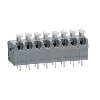 Screwless terminal block for printed circuit boards ML-1400