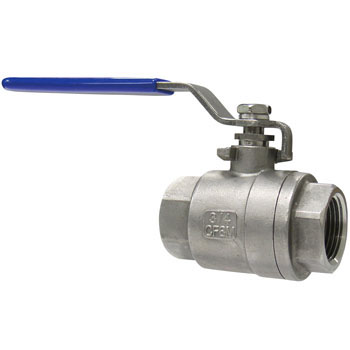2Pcs Screwed Ball Valve