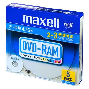 3X DVD-RAM Correspondence for Data With No Cartridge