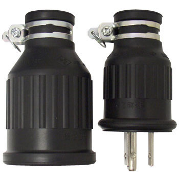 Water Proof Rubber Cord Connector Grounding 2P Set Product