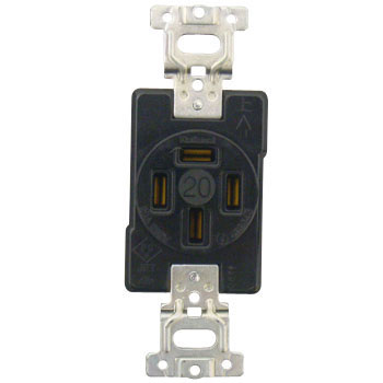 High Capacity Flush Plug Receptacle