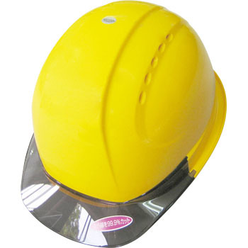 Clear Visor Helmet With Vent, Open Holes, With Shock Absorbant Lining