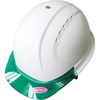 Clear Visor Helmet With Vent, Open Holes, Without Shock Absorbant Lining