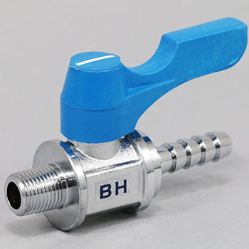 Ace Ball Straight Type Hose Nipple Integral Type, Handle Color Blue