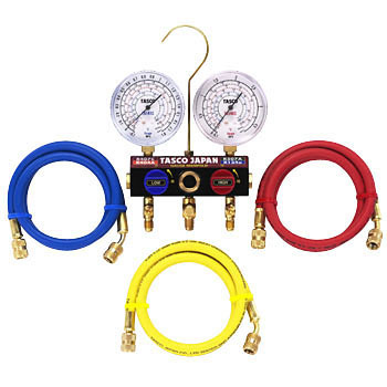 R407C R404A R507A R134a Ball Valve Type Gauge Manifold Kit