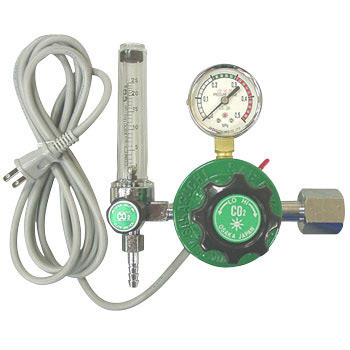 Carbon-Dioxide-Gas Regulator, Built In Heater Type