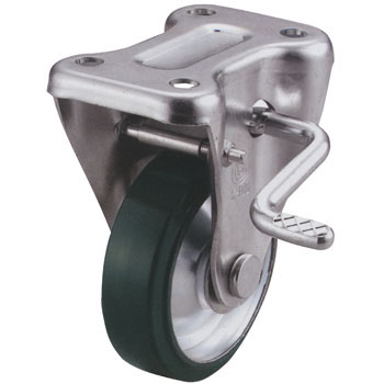 KB type fixed car (urethane wheel) With stopper