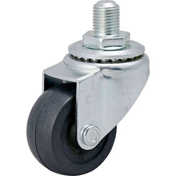 Screw Type Sr Swivel Caster, Rubber Wheel