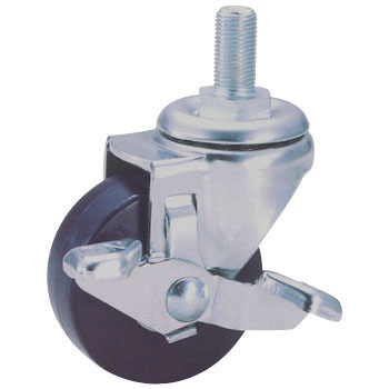 Screw Type Sr Swivel Caster, Rubber Wheel) With A Blade Latch