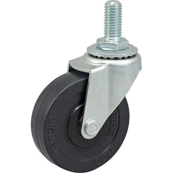 Screw Type Sel Swivel Caster, Rubber Wheel