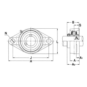 Rhombic Flange Unit Stainless Steel Series