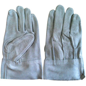 Cow Split Leather Gloves, Back Seam