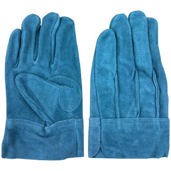 Cow Split Leather Gloves Back Threaded, Oil Processing