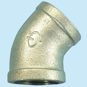 45 deg Elbow Malleable Cast Pipe Fitting White