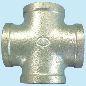 Cross Malleable Cast Pipe Fitting White