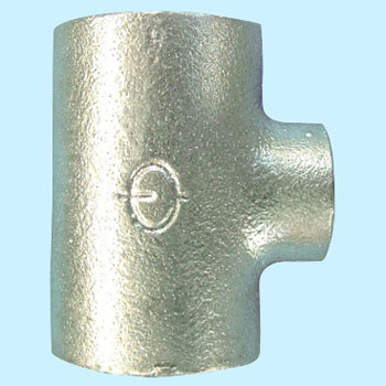 Different diameter cheese malleable cast iron pipe fitting (white)