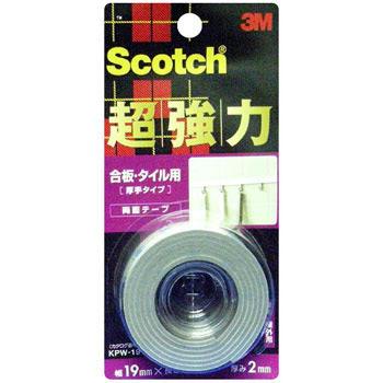 Scotch Strong Double-Sided Tape For Plywood And Tile, Thick Type,