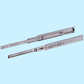 Three-stage pulling ball slide rail ABS-N-3WR