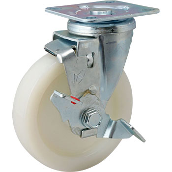 Stc Swivel Caster, Nylon Wheels ) With Stopper