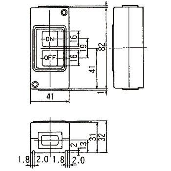 High Pro Pushbutton Switch Exposed Type