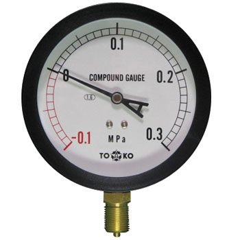 General Compound Gauge Type A phi100, Simple Drip Proof