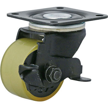 100HB-PAs, Swivel Caster, Urethane Wheel, with Brake, for Low and Heavy