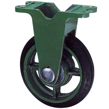 Ductile caster (wide type) fixed car