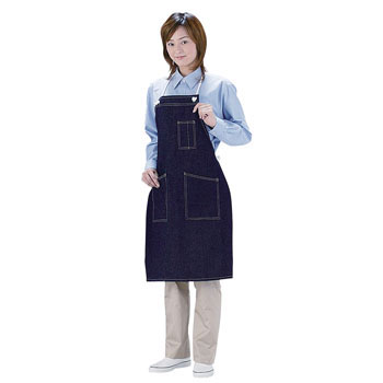 Denim Apron with Rope and Pocket