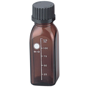 Screw mouth bottle Square brown