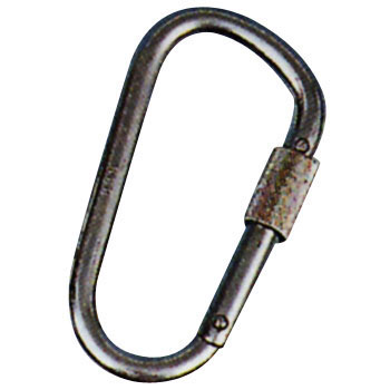 Carabiner D Type with Safety Ring