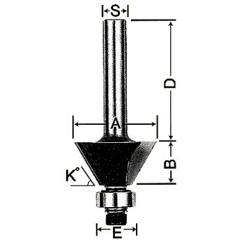 Trimmer-Router Bit, with Roller