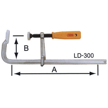 L-shaped clamp
