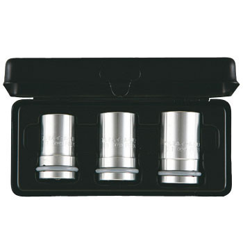 "1/2""sq. ALUMINIUM SOCKET SET (3pcs.) FOR POLISHED NUT"