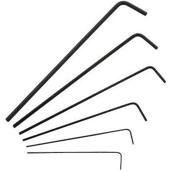 Micro Long Hexagon Bar Wrench Set, Set Of 6