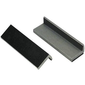 Aluminum Vise Pads, With Rubber Pad